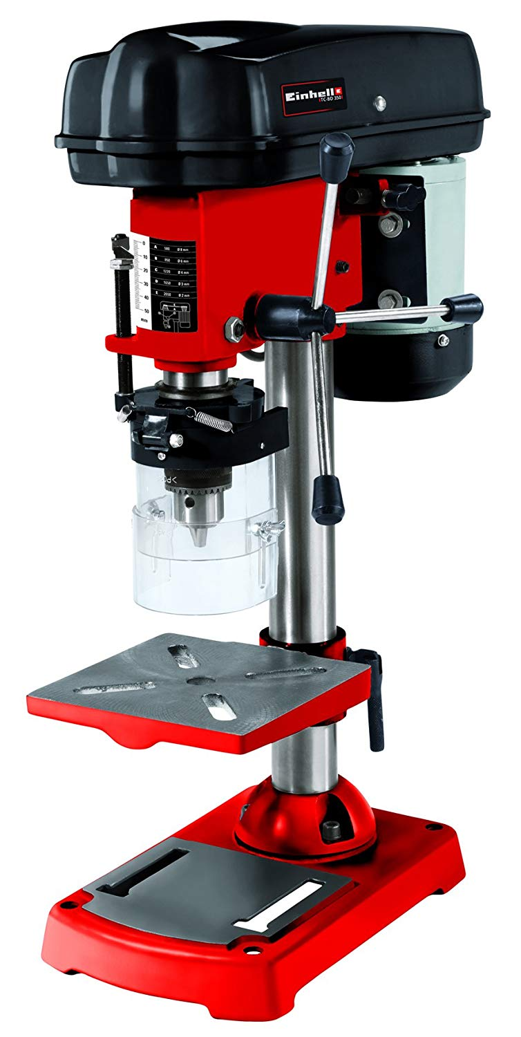 Einhell Perceuse à colonne TC-BD 350 (350 W, Inclinaison de la table de perçage : -45° à +45° , Hauteur de la table